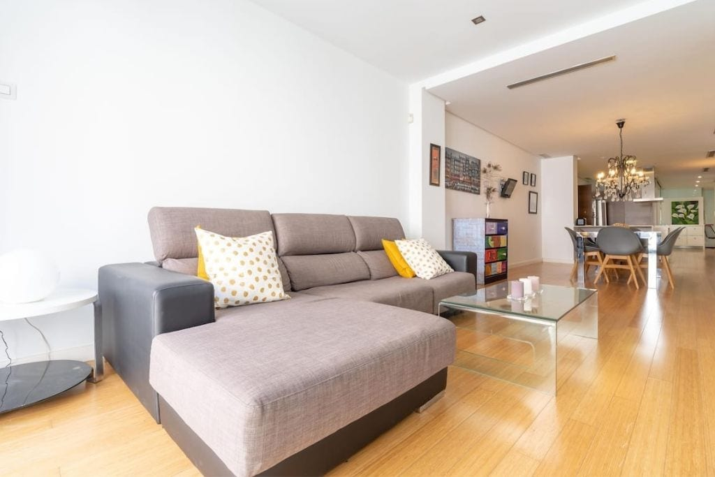 bright and open living room at private holiday apartment in benimaclet area