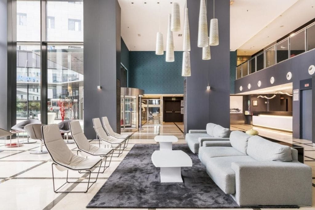 lobby at ilunion aqua 4 one of the best hotels to stay in valencia