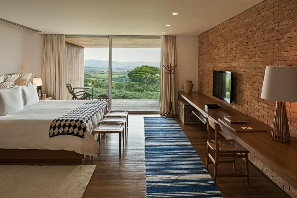 double bedroom with a beautiful view