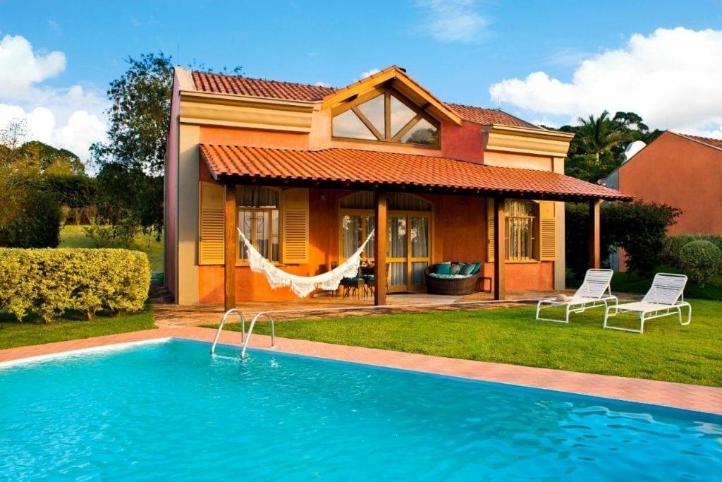 swimming pool at hotel villa rossa