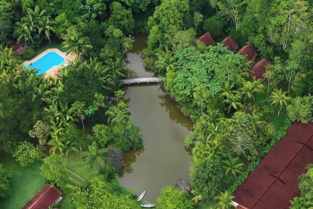 aerial view of pousada salve flores farm stay in sao paulo